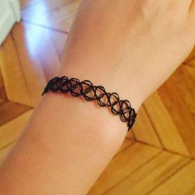 Bracelet effet tatouage