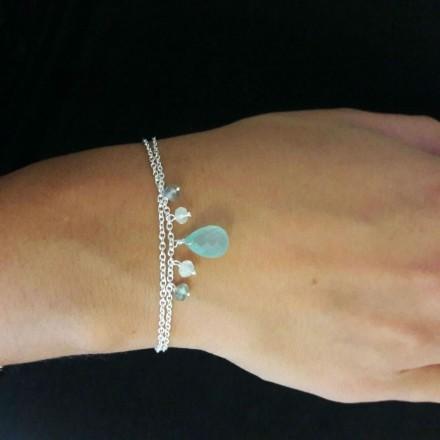 Bracelet chaîne goutte