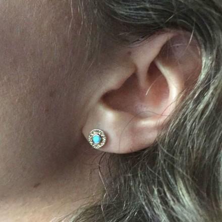 Boucles d'oreilles Cleopatre turquoise