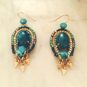 Boucles Turquoise pendantes