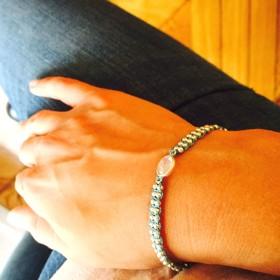 Bracelet cordon opale