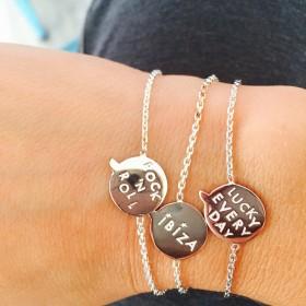 Bracelet message bulle