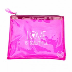 Pochette rose fluo Beautiful