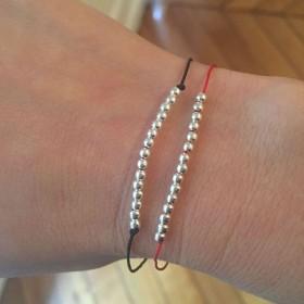 Bracelet cordon billes