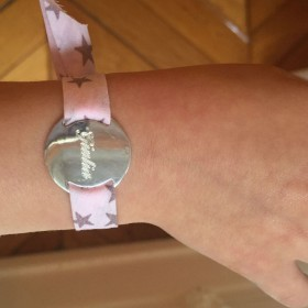 Bracelet ruban médaille à graver