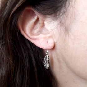 Boucles Plumes Silver