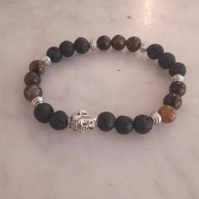Bracelet Elastique Bouddha Marron