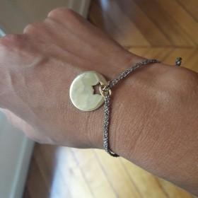 Bracelet Lurex Médaille Star à graver