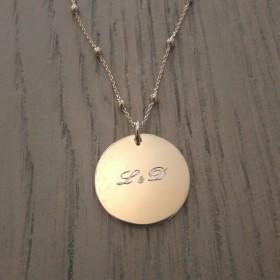 Collier/ Sautoir Grande Médaille Chaîne Mixte