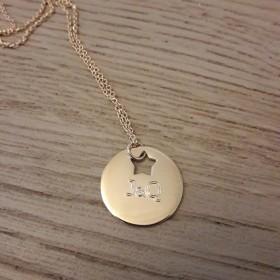 Collier/Sautoir Médaille Etoile ajourée