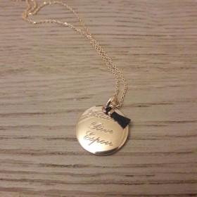 Collier/Sautoir médaille petit pompon