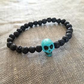 Bracelet homme Skull turquoise