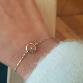 Bracelet or et diamant