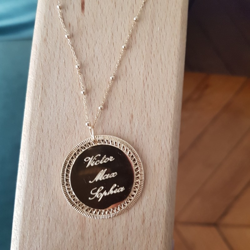 970ddf2f59e17 Collier/Sautoir India chaîne mixte - Mademoiselle Tess