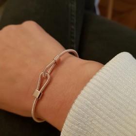 Bracelet double boucle or rose