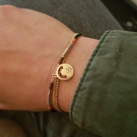 Bracelet Miyuki et chaîne