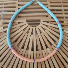Collier African Style Peach