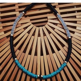 Collier turquoise et opalite