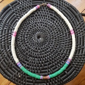 Collier African Style Pink/Green