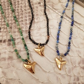 Collier Pierres et Dent de requin