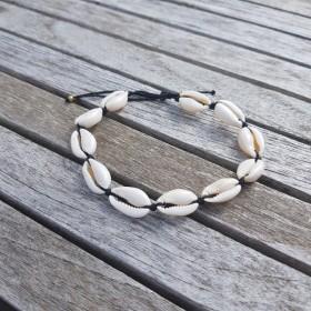 Bracelet de cheville Cauri Noir