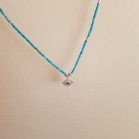 Collier Oeil turquoise