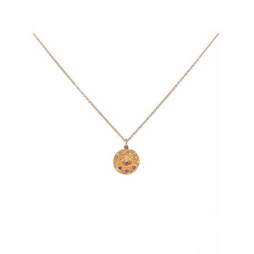 Collier oeil rose
