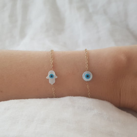 Bracelet nacre oeil gold