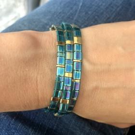 Bracelet Miyuki turquoise