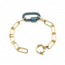 Bracelet Mousqueton turquoise