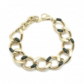 Bracelet Madeline Or Strass Noirs