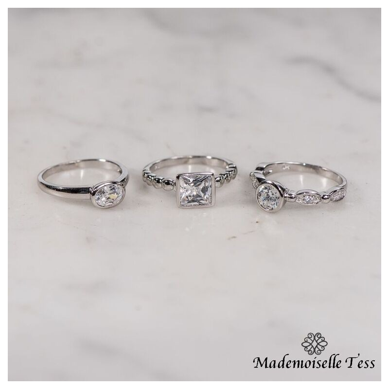 Trio glitter mademoiselle tess for Miroir eclat silver