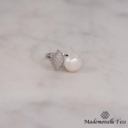 Bague cut perle
