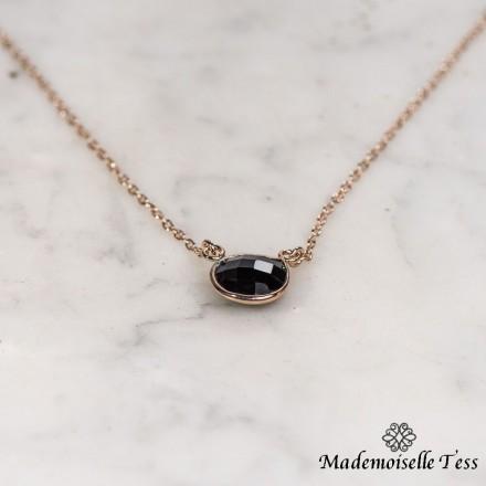 Collier onyx noire
