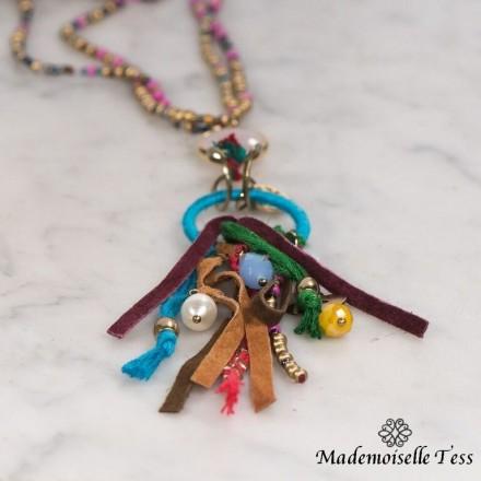 Sautoir multicolore