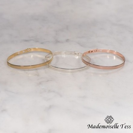 Bracelet 2 rangs perlés