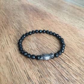 Bracelet élstique onyx noir