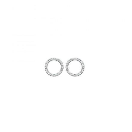 Boucles d'Oreilles cercle zircons