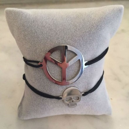 Bracelet cordon motifs Mixte