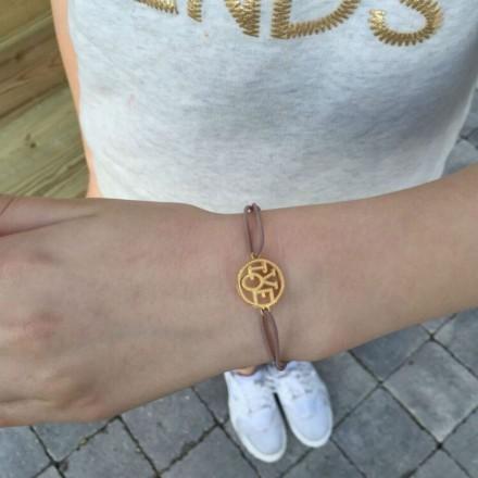 Bracelet cordon Love doré