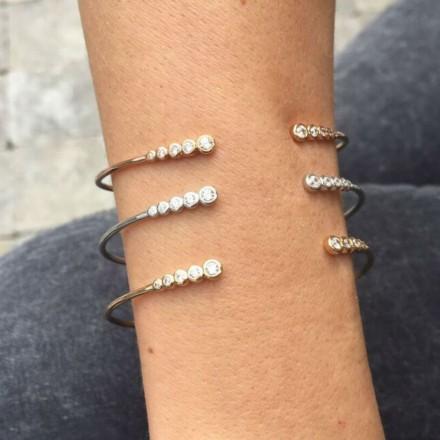 Bracelet cut 5 zircons