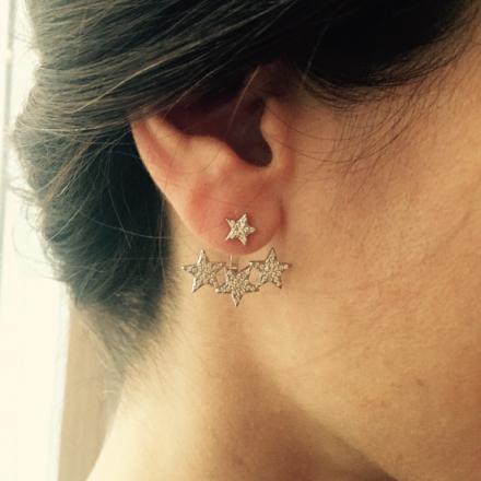 Boucles d'oreilles devant/derrière 4 étoiles