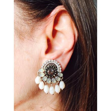 Boucles d'oreilles clip Pampilles
