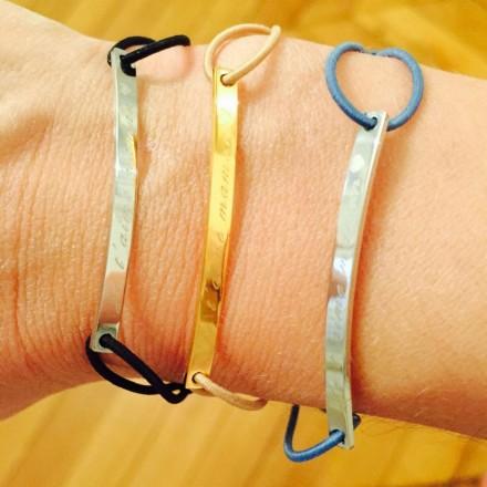 Bracelet cordon Je t'aime maman