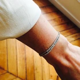 Bracelet semi rivière argent