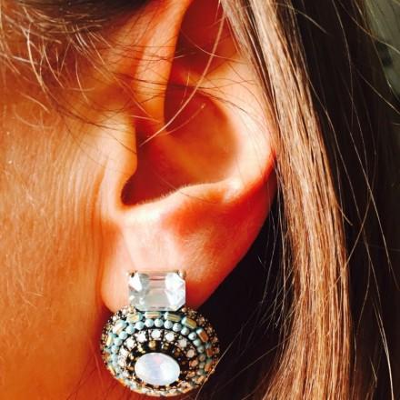 Boucles d'oreilles à clip turquoise