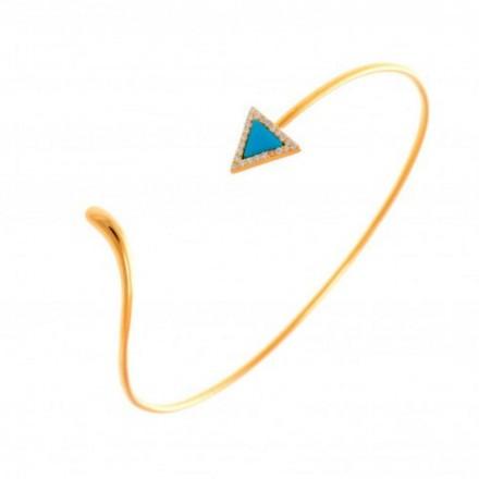 Bracelet cut turquoise doré