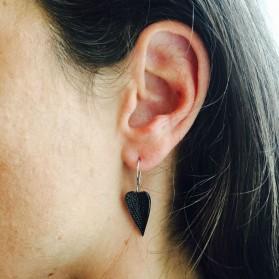 Boucles d'oreilles black heart