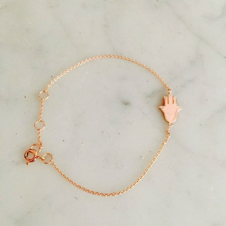 Bracelet Main Argent rosé