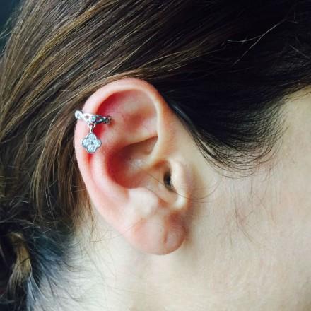 Bague d'oreilles trèfle sans perçage